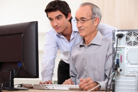 outsourced IT helping employee